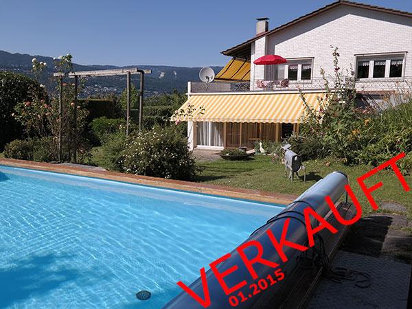 6.5 Zimmer-Einfamilienhaus, freistehend, mit Sonnenterrasse und Schwimmbad!